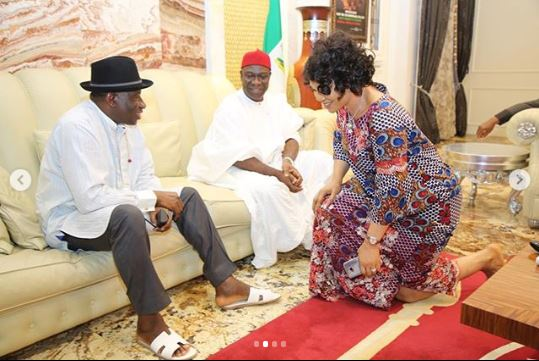 Jonathan Visits Ekweremadu Over Attack On His Home (Pics)
