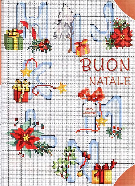 punto de cruz Abecedario letras Navidad  Blog de imgenes