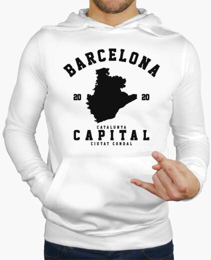 Ciudades, Sudaderas, Barcelona, Negro