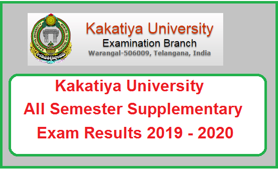 Kakatiya University Supply Results 2019 - 2020