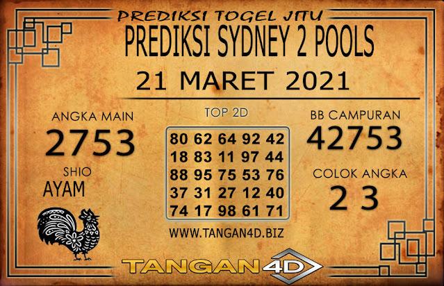 PREDIKSI TOGEL SYDNEY2 TANGAN4D 21 MARET 2021