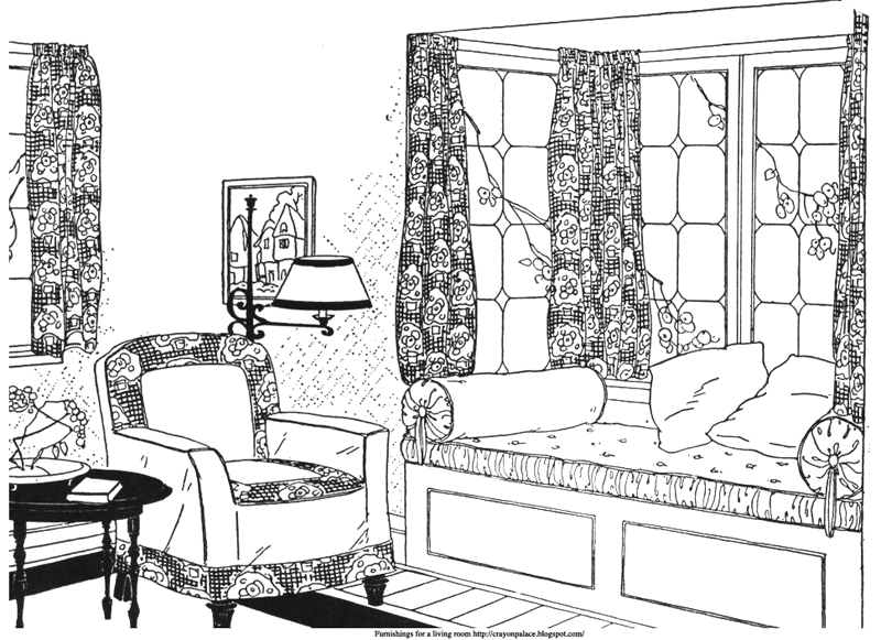 Living and dining rooms for your paper doll's house