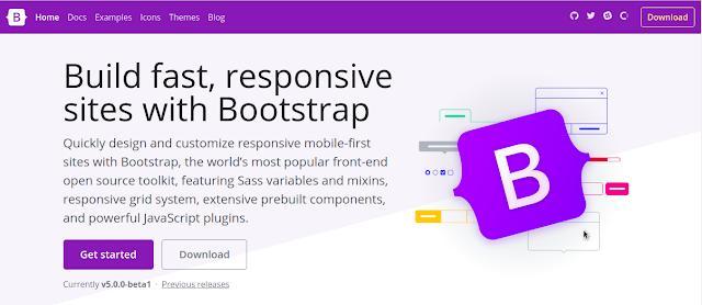 Framework CSS Terbaik di Tahun 2021 - Bootstrap