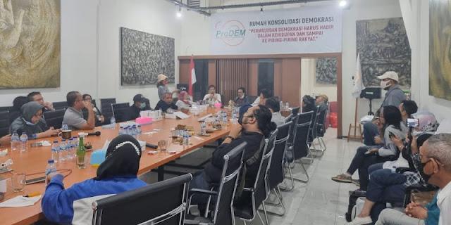 Tidak Mau Kalah dengan Istana, ProDEM Jalin Konsolidasi Perlawanan Bersama Rakyat