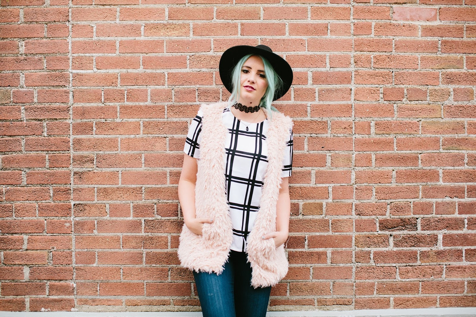 Fur, Bue Hair, Utah Fashion Blogger, Choker