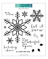 Concord & 9th SNOW FLURRY Clear Stamp Set