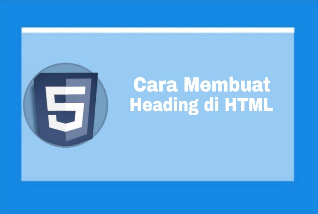 membuat Heading html