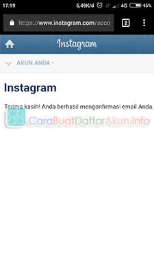 cara membuat email instagram