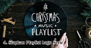 Jangan Lupa Siapkan Playlist Lagu Seru merupakan salah satu ide seru rayakan natal dirumah selama pandemi
