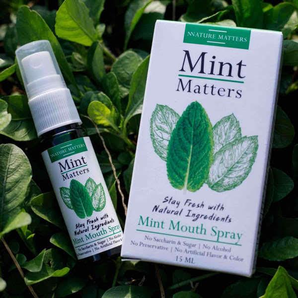 Mint Matters สเปรย์สำหรับช่องปาก สูตรเข้มข้นสเปรย์แค่เพียง...