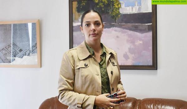 """María Rodríguez: """"Vamos a firmar una alianza para impulsar una isla más sostenible con el Gobierno de Canarias y de España"""""""