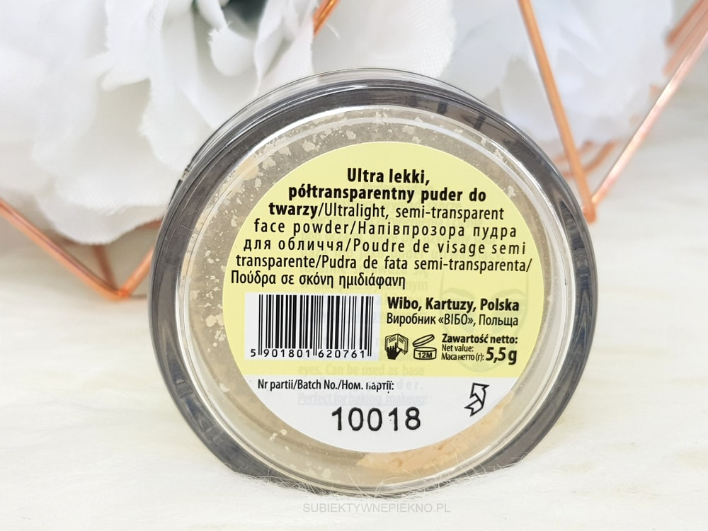 PUDER WIBO BANANA Loose Powder opinie