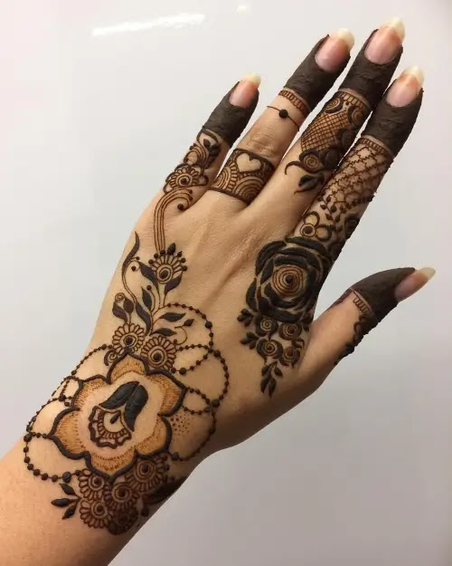 Flowers-with-dot-henna-design