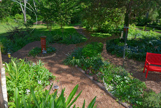 Back garden Celtic Cross walkway 2020