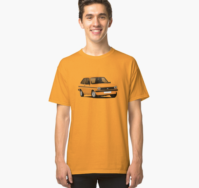 Vintage Ford Fiesta Mk1 T-shirts - orange