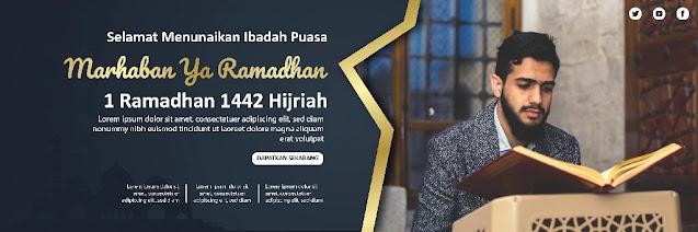 Download Desain Spanduk Ramadhan  Ilustrator Gratis