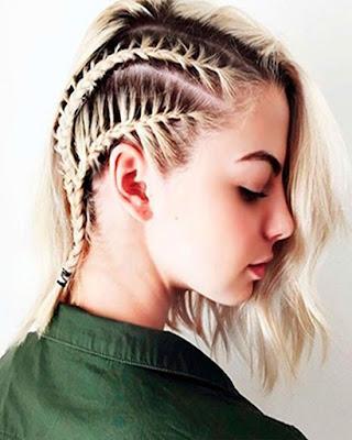 peinado con trenza pegadas casual tumblr