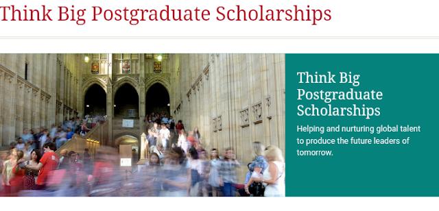 Think Big Postgraduate Scholarship | Fees and funding | University of Bristol
