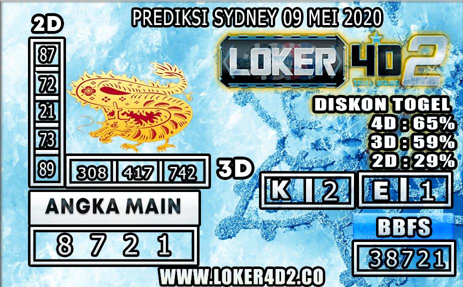 PREDIKSI TOGEL SYDNEY LOKER4D2 09 MEI 2020
