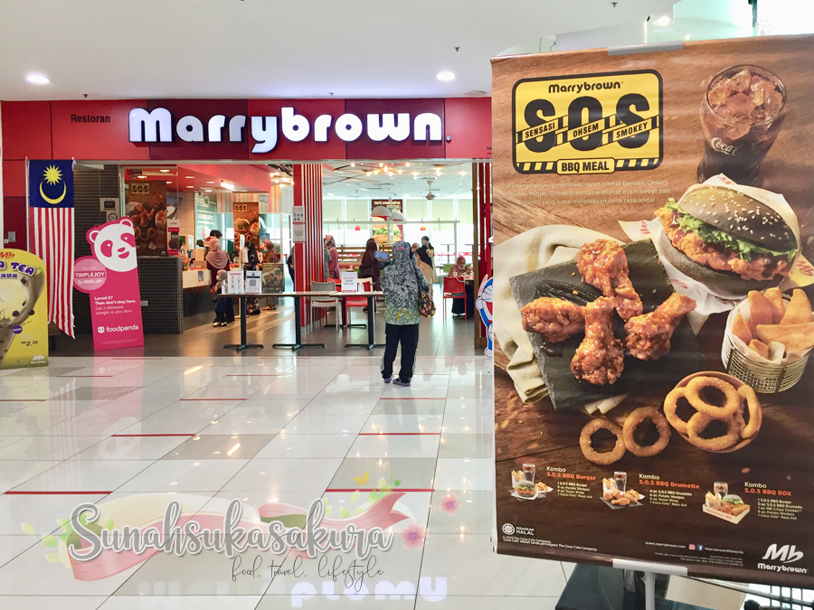 Aduh, Sedapnya S.O.S BBQ Meals Marrybrown!