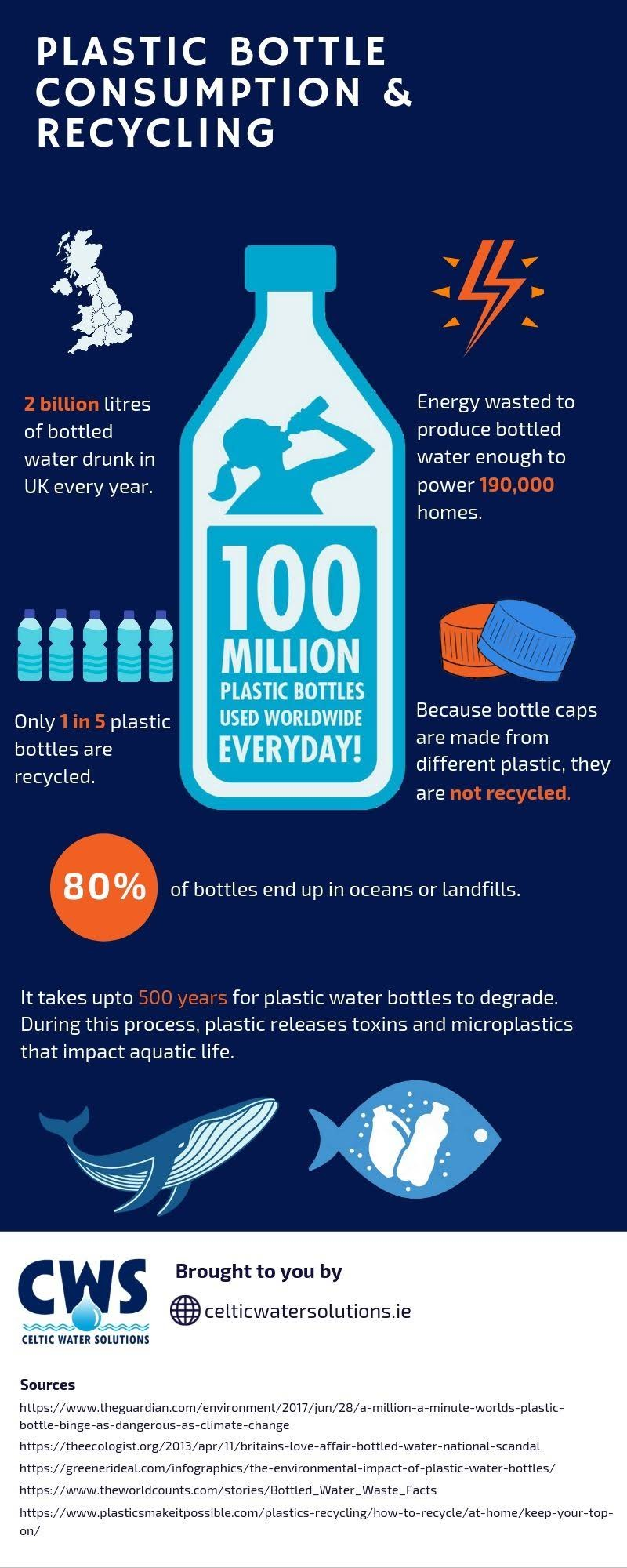 Plastic Bottle Consumption and Recycling #infographic