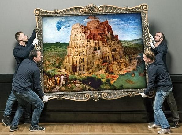 Luzyarte Detalles Del Cuadro La Torre De Babel De Pieter Brueghel