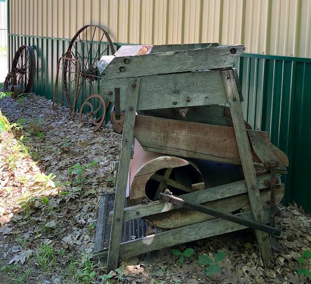 Photo of outdoor farm junk decor