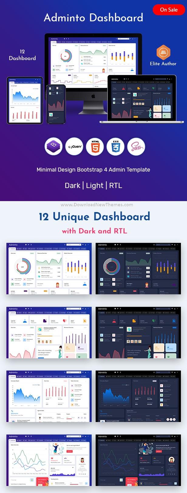 Best Bootstrap Admin Dashboard Template
