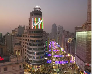 Madrid. Edificio Capitol o Edificio Carrión.