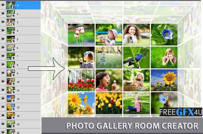 Photo Gallery Room Creator Photoshop Action