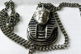 Tutankhamun Egyptian necklace silver