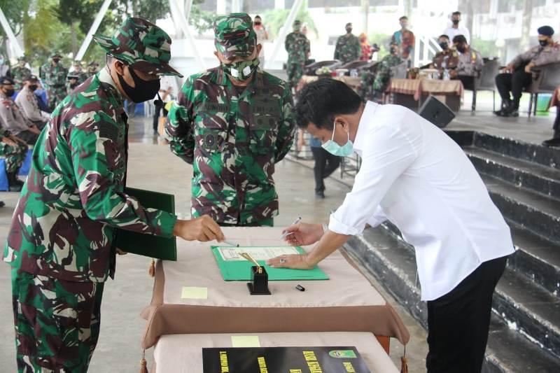 Danrem 033/WP Brigjen TNI Harnoto, Tutup TMMD Ke 108 Ta. 2020 di Wilayah Kodim 0316/Batam