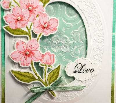 Forever Blossoms, Baby-wipe technique, Stampin' Up!, Heart's Delight Cards