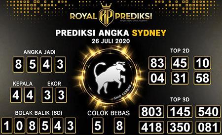 Royal Prediksi Sydney Minggu 26 Juli 2020