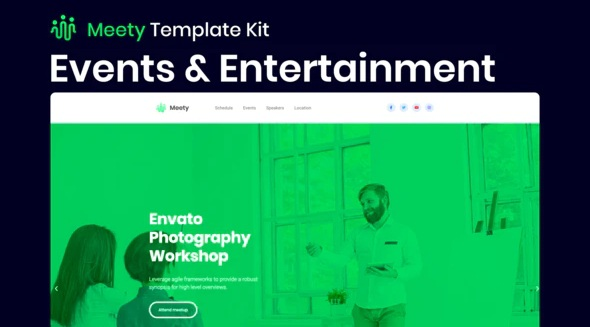 Meety Elementor Template Kit