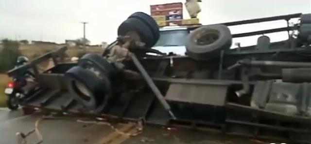Grave acidente de transito na manhã deste sábado (18), na BR-423, em Cachoeirinha, no Agreste de Pernambuco.
