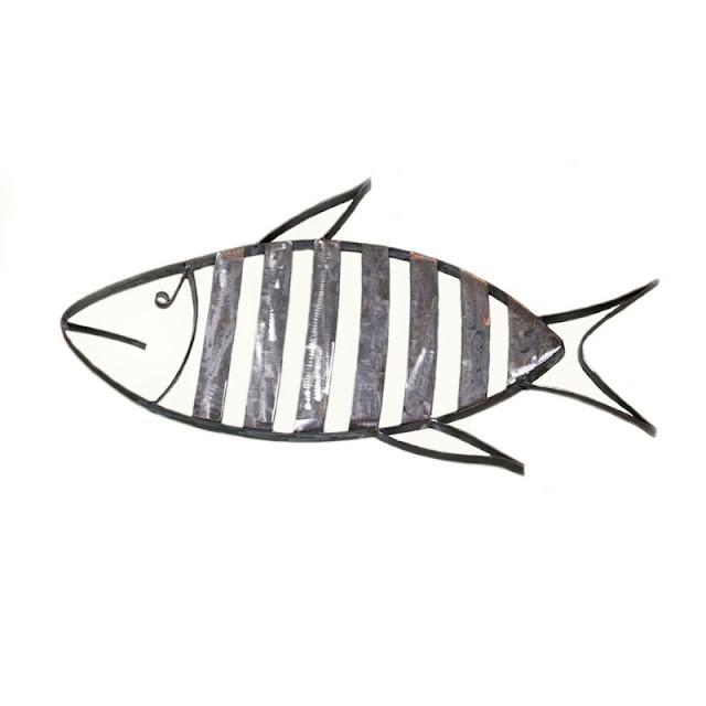 Striped Fish Wall Decor