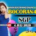 Bocoran Misteri 4D SGP 4 Juli 2020
