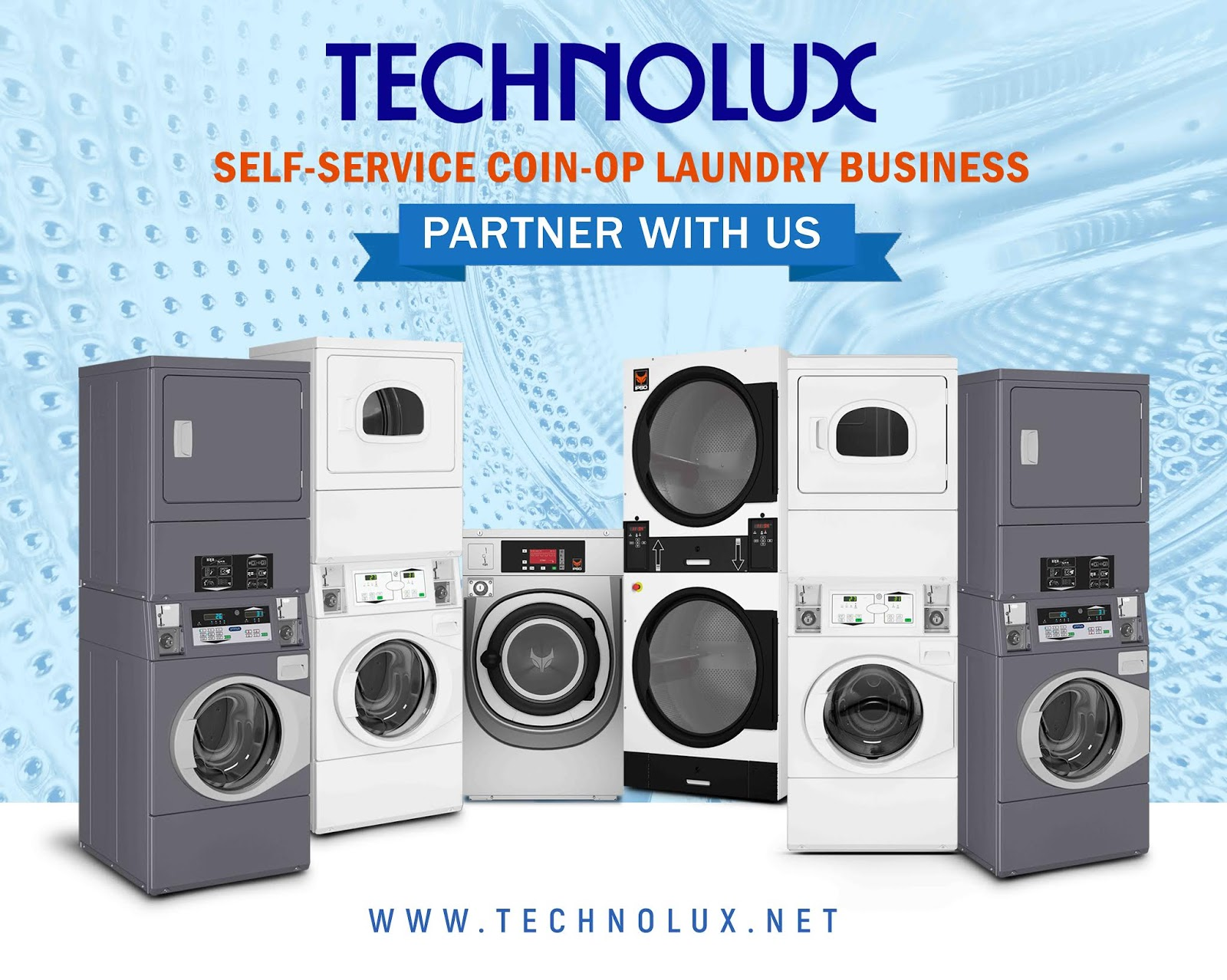 Technolux Launches Self Service Coin Operated Laundry Business Sandal Voltus Marissa Series 1