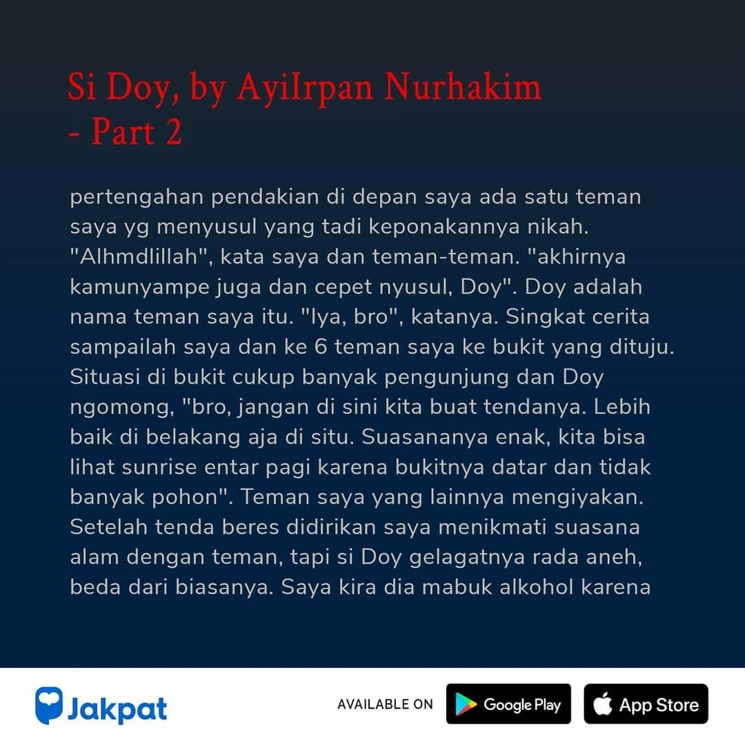 Kisah Misteri Si Doy, by Ayilrpan Nurhakim Part 2