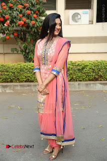 Actress Vimala Raman Stills in Beautiful Pink Salwar Kameez at (ONV) Om Namo Venkatesaya Press Meet  0265.JPG