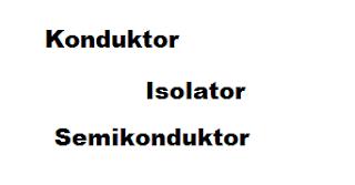 Apa yang dimaksud dengan konduktor, isolator, dan semi konduktor?