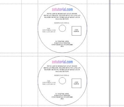 Template Label CD/DVD Untuk Skripsi dan Jurnal Format .cdr by zotutorial