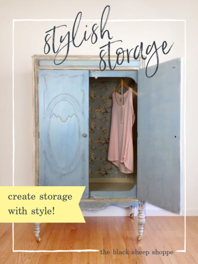 How to create stylish storage solutions on a limited budget.