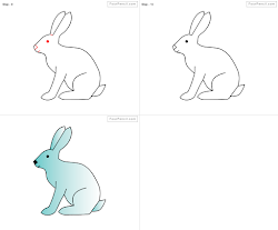 rabbit draw easy drawing bunny step drawings running steps coloring rabbits cartoone template enlarge paintingvalley clipart