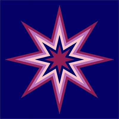 Starburst quilt block pattern