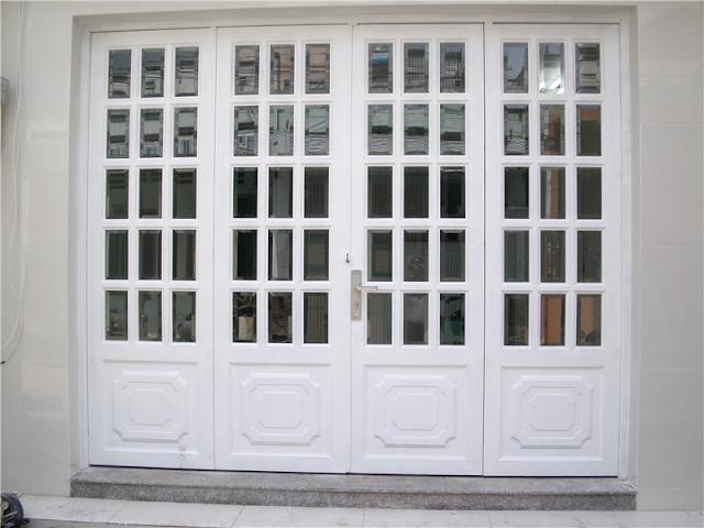cửa nhôm kính đẹp 4 cánh