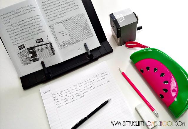 Using copywork to teach penmanship, grammar and punctuation