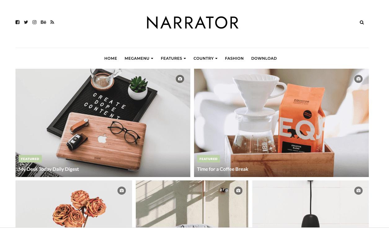 Narrator v1.0 - Personal Responsive Blogger Template