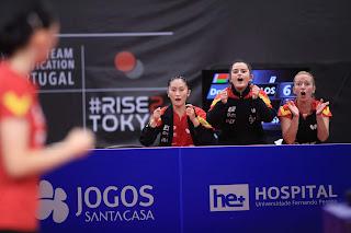 TENIS DE MESA - España no consigue la clasificación olímpica por equipos femeninos en Gondomar
